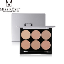 Miss Rose Concealer Facial Corrective Makeup All Round Contour Highlighter Flawless Make-up Base Corrector Palette 6 Color
