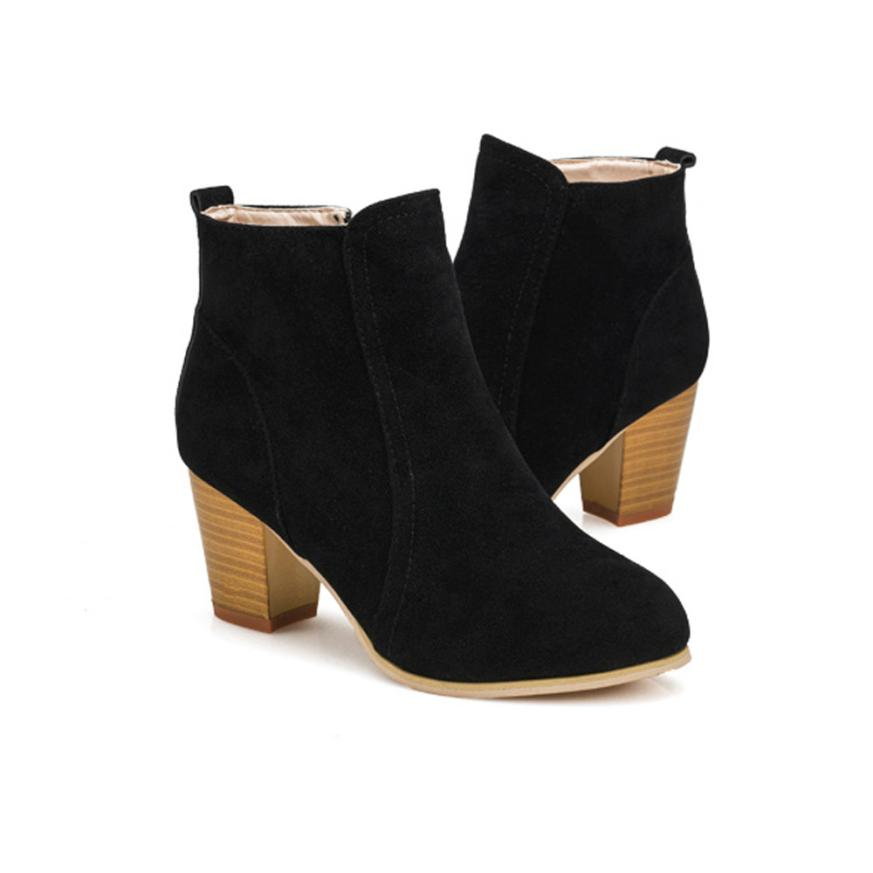 Autumn Boots With High Heels Shoes Women Ankle Best Gift Wholesale Drop Shipping Dec30<br><br>Aliexpress