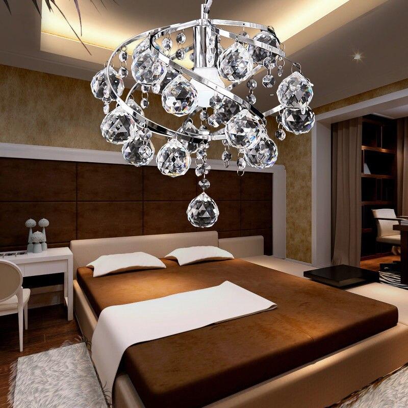 Modern Spiral Crystal Chandelier Pendant Lamp Light Fixtures Home Dining Room<br>