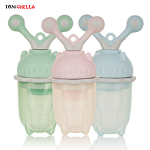 Baby Pacifier Easy Soothing Design Food Feeding Soother Silicone Childfren Nipple Teat Fresh Fruit Milk Feeder Chupeta T0500(China)