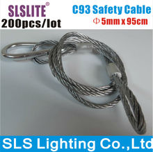 200XLOT Safety Cable For Super Beam Moving Light and 7R Beam Moving Light 5mm*95cm,Bear 25kg China Stage Light Accessory