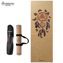 Cork Floor Mat Manufacturer Wholesale Eco-friendly Extra Thick Anti-Slip NBR Yoga Mat(China)