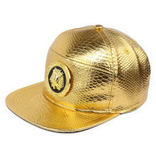 Mens Women Golden Pharaoh Avatar Baseball caps Faux Leather Egyptian Pyramid Snapback Last King hip hop DJ Rap hats