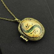 Horcrux Locket Glass Box Alloy Pendant Cool Necklaces Necklace Chain Decoration High Quality Gift For Fans Cosply Movie Jewelry