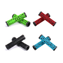 1 Pair Eco-friendly Openwork Pattern Bicycle Handlebar Grips Bike MTB Grip Manopole Rubber Bicicleta Ciclismo(China)