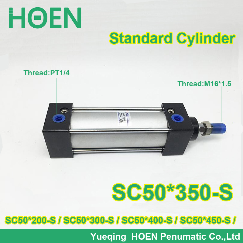 SC50*25-S 50mm bore SC50-25 standard single rod double action pneumatic cylinder SC SU series SC50*50-S SC50*75-S SC50*100-S<br>