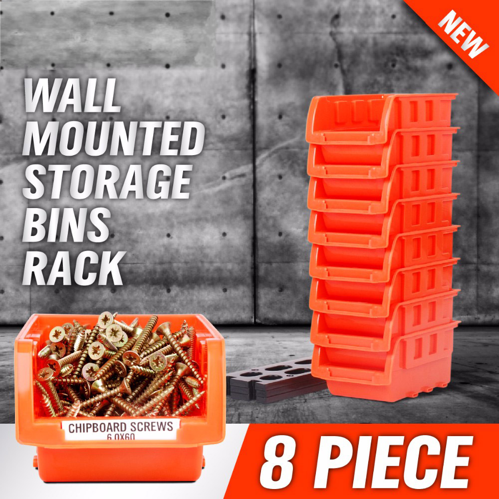 8Kit Plastic Stackable Tray Multi-purpose Tool Parts Key Storage Organizer Box Wall-mounted Storage Box YAD1009<br><br>Aliexpress