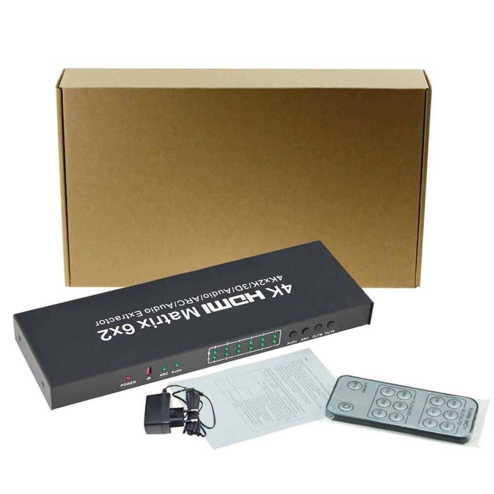 HDMI Switcher 6x2 1