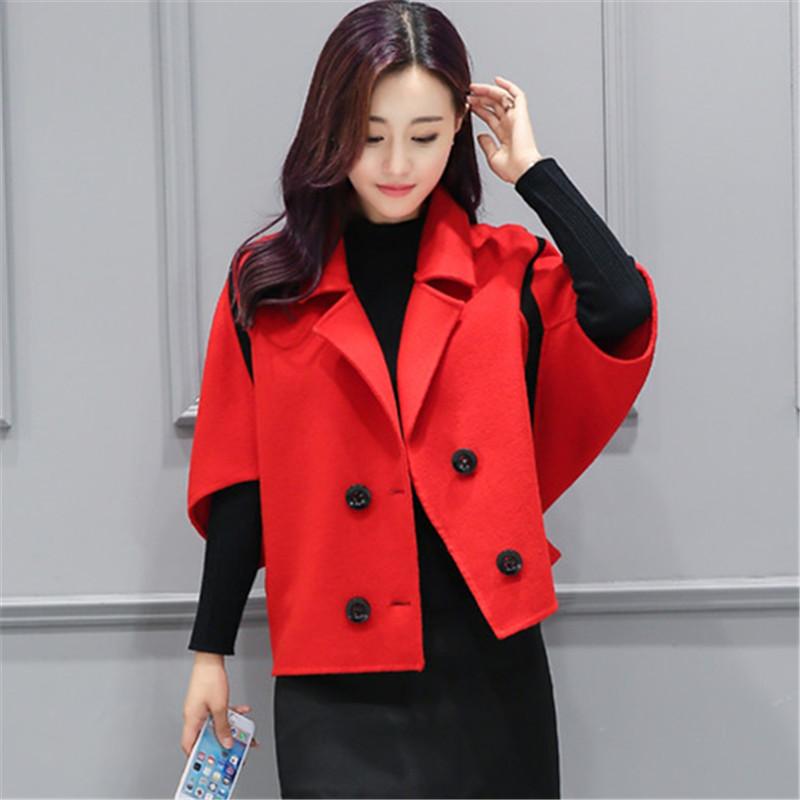 Spring Elegant Women Slim Coat Fur Color Short Sleeve High Quality Streetwear Red Yellow Coat 2018 9 Online shopping Bangladesh