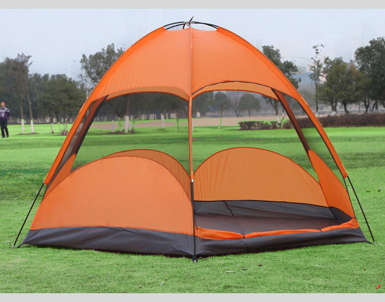 Mongolian Yurt Tent Fishing Mosquito Net Picnic Family Outdoor Camp Summer Beach Camping Tent 5 Person Waterproof (10)
