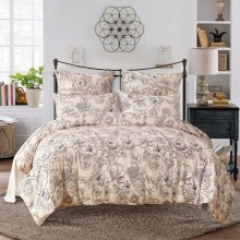 PatridgeSky 2-4PCS UK US Russia Size Flower Printed Bedding Set Bed Cover Pillowcase Russia Double Russia Europe Russia Family