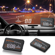 "OBDII digital car speed HUD 3"" OBD2 Head Up Display Overspeed Warning System Projector Windshield Auto Electronic Alarm Voltage(China)"