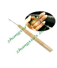 Wooden Handle Simple Pulling Needle, Micro Ring Needle, Hair Extension Tools, 60 Items Per Lot! FREE SHIPPING!(China)