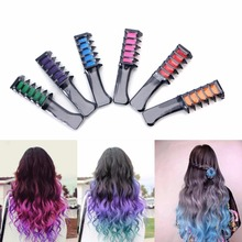 Fashion Hair Mascara Comb Type Cosplay Make Up Crayons Easy Use Hair Color Chalk Hair Color Temporary 5 Color Hair Dye 1 Pcs