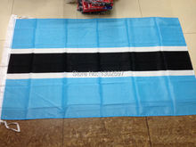 FreeShipping90*150cm Hanging Botswana National Flag Office/Activity/parade/Festival/worldcup/Home Decoration 2014 New fashion