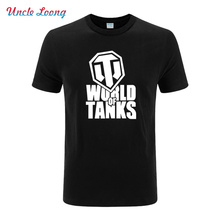 Summer Style Casual World Of Tanks T Shirt Men Manufacture World War ii printing Tank T-SHIRT Men Short-sleeve Top Tees