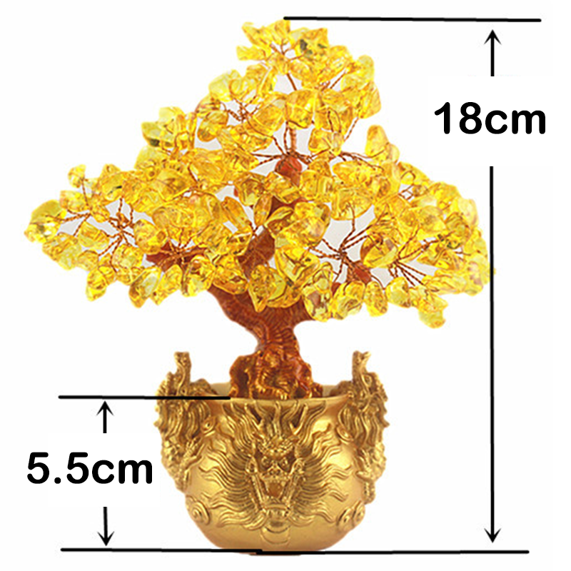 1pc x Feng Shui Money Lucky Rich Tree Craft Natural Crystal Office Home Room Decor