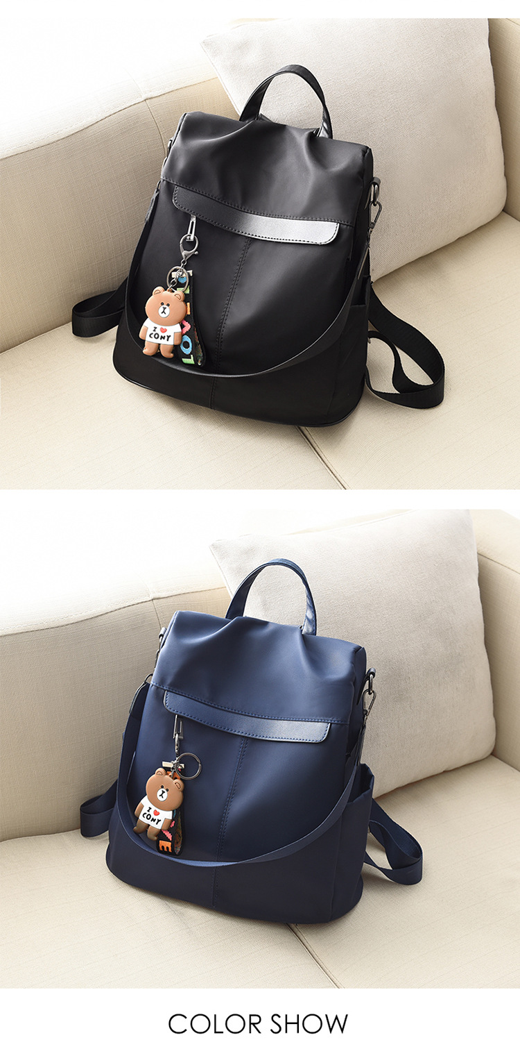 Large Capacity Backpack Women Preppy School Bags for Teenagers Female Oxford Travel Bags Girls Bear Pendant Backpack Mochilas 20 Online shopping Bangladesh