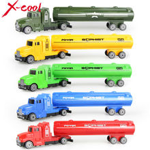 X-cool 5 colors oil tank truck Die cast Car alloy truck with Plastic Engineering car model Toy Classic Toy Mini gift for child