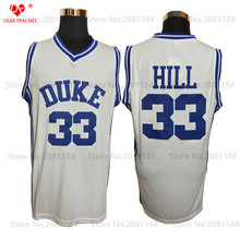 2017 For Men Cheap Throwback Jersey DUKE Blue White 33 Grant Hill Jersey Stitched College Basketball Jerseys Retro Basket Shirts