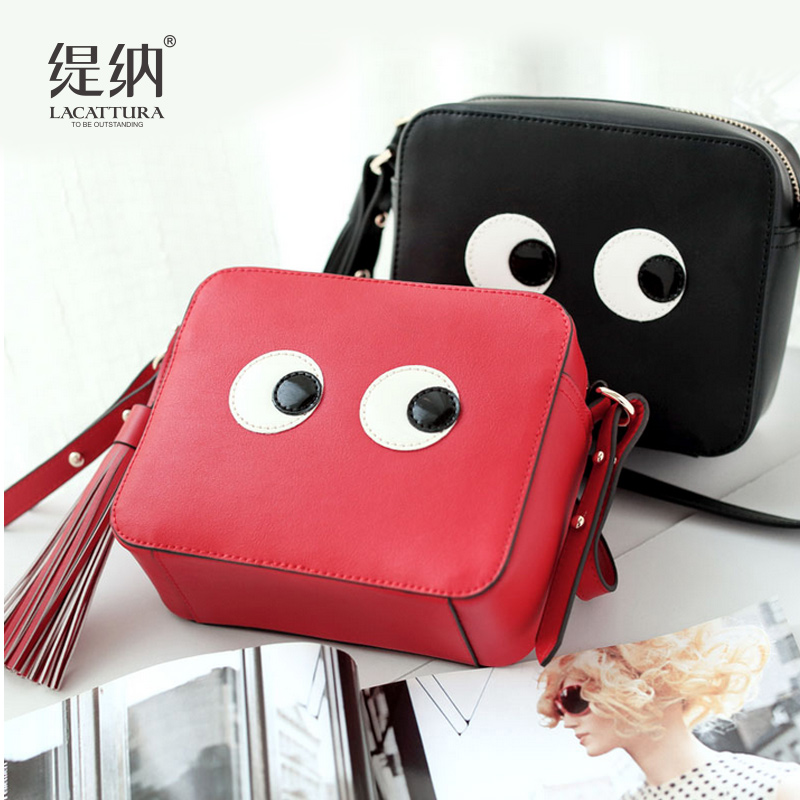 T0013 causal Female Mini eyes Crossbody Bag Small Women Tassel Shoulder Bag Women Messenger Bags Tote Handbag  Bolsas Feminina<br>