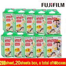 new 200 sheets  free shipping Fujifilm Instax Mini Film White Edge 200pcs For Instax mini 7s 8 25 50 90 SP1 Camera MADE IN JAPAN