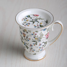 300 ml Fashion bone china cup water tea cup floral ceramic mug milk cup the royal coffee cup exquisite gift(China)