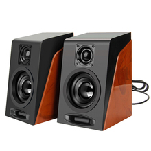 2pcs Creative PC Speaker Subwoofer Restoring Ancient Ways Desktop Computer PC Speakers With USB 2.0 & 3.5mm Column for Computer(China)