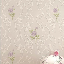 Romantic Purple Pearl Flowers Wallpaper for Bedding Room Floralic DZK65 modern papel de parede floral Home Decor(China)