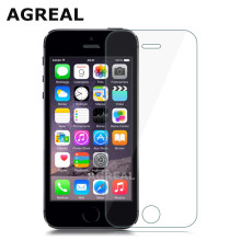 AGREAL For iPhone 5 5c SE 9H 0.3mm 2.5D Tempered Glass Screen Protector Explosion Proof Toughened Protective Film For iPhone 5s