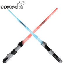 3 colors Plastic Star War Light Sword Laser Sword Light Saber Action Figure Scalable Sound Christmas Birthday Kids Gift Toy