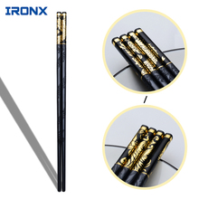 IRONX Luxury Household sushi Chopsticks Tableware dinnerware Alloy black chop sticks Chinese Style for gift. (27cm)(China)