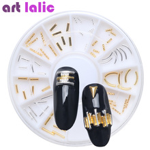 Latest Japanese Style Nail Art Jewelry Decoration Gold Silver Bar DIY Foil Manicure Fashion Tips(China)