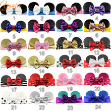 300 pcs/lot Free DHL Wholesale Kids Girl Lovely Minnie Mouse Ear Elastic Headband 2016 Chic Hair Accessories For Kids Headwrap