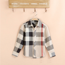 kids shirts new arrival baby boys shirts spring autumn summer children long sleeve shirt plaid Blouse England Style