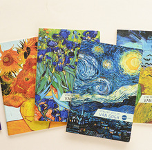 Vincent van Gogh Oil Painting Series Starry Night Cover Notebook A5 Notepad Creative Thin Beautiful Diary Book Students Gift(China)