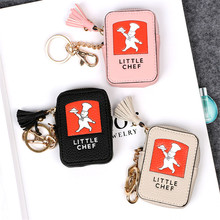 Creative Mini Leather Keychain Keyring Key Rings Coin Purse Key Holder Key Chains for women Charms Shoulder Bag Accessories