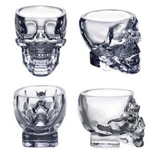 Hot Sell Creative Designer Special Transparent Crystal Skull Head Shot Glass Cup For Whiskey Wine Vodka Home Drinking Ware