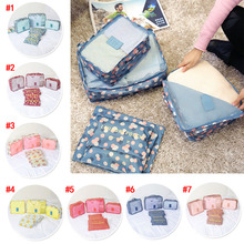 6PCS Travel Storage Bag Clothes Tidy Organizer Luggage Pouch Suitcase Handbag Closet Divider Drawer J2Y