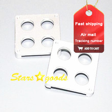 2pcs 3D printer accessories Ultimaker four hole alumina film extruder hot end PEEK fixed seat(China)
