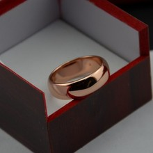 Never fading rose Gold Color 6mm Brand Rings For Women men Wedding lovers Rings Rose Gold Fine jewelry(China)