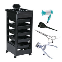 New Drop Shipping 2016 Beauty Salon Trolley Station Equipment Rolling Storage Removable Tray Cart Quality(China)