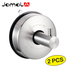 Bathroom Suction Cup Hook Stainless Steel Wall Coat Clothes Robe Hanger Metal Towel Hooks JOMOLA_JB-S2172-A(China)