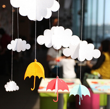 1 Set clouds small umbrella DIY Felt ornaments party supplies Nursery children room Decoration Birthday Party Garland