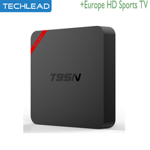 T95N Android 6.0 TV Box 1GB 8GB with iview HD Arabic sports channels European UK Greek Albania Germany tv account apk Russian tv