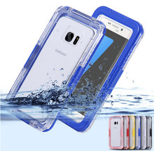 (1 FREE Tempered Glass) Waterproof Heavy Duty Hybrid Swimming Dive Case For Samsung S6,S6edge,S6edge plus,S7,S7edge Bag Cover