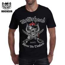 2017 Rocksir the band series men's t shirt the Motorhead classic ablum bad magic and others metal skull rock print  tops tees