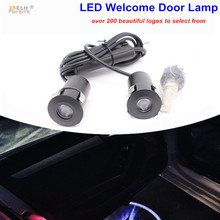 LED Door Warning Light With renault Logo Projector For renault megane 2 duster logan clio laguna 2 Koleos Etc