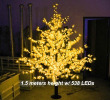 538 LEDs 5ft Height LED Maple Tree LED Christmas party Tree Light Waterproof 110/220VAC RED/Yellow/pink/green /Blue Outdoor Use