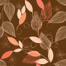 HUAYI Art Fabric Photography backdrop Brown Damask Colourful Leaves Photos For Studios backdrop Wall Graffiti Background D-7056(China)